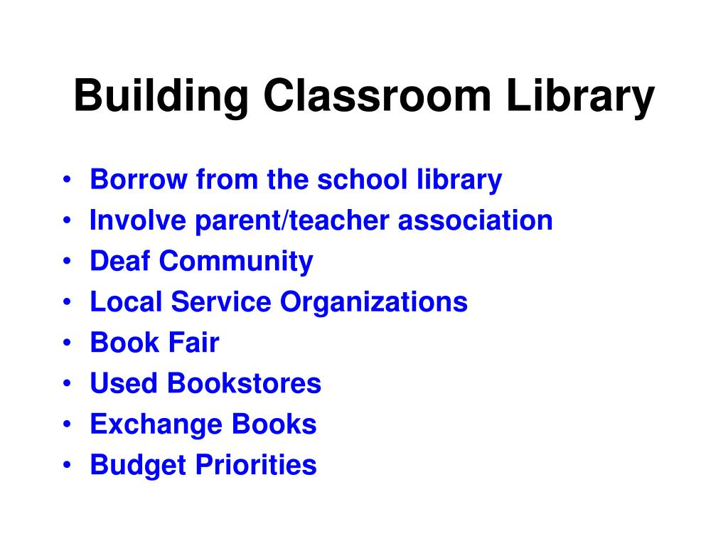 Building Classroom Library
