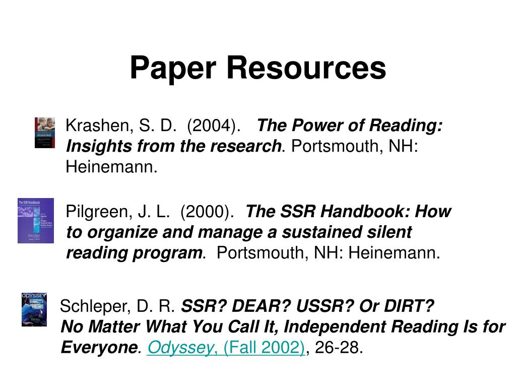 Paper Resources