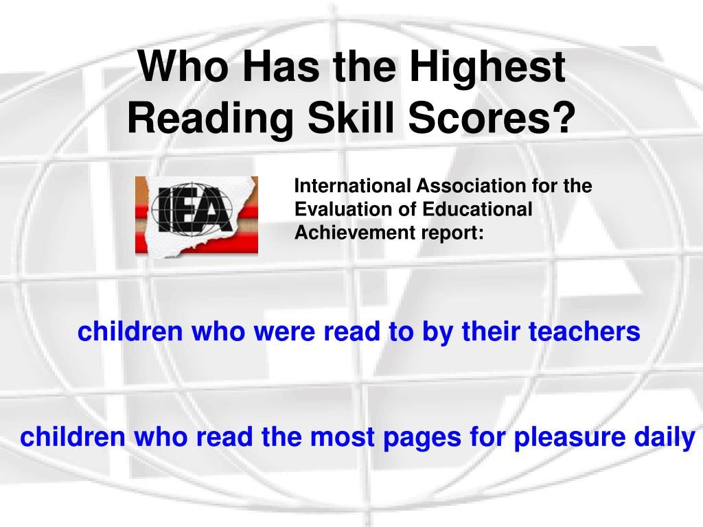 Who Has the Highest Reading Skill Scores?