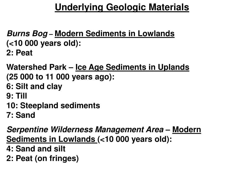 Underlying Geologic Materials