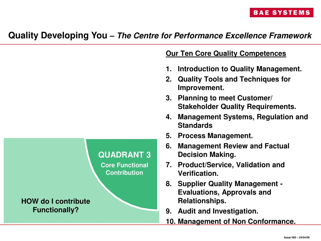 Our Ten Core Quality Competences