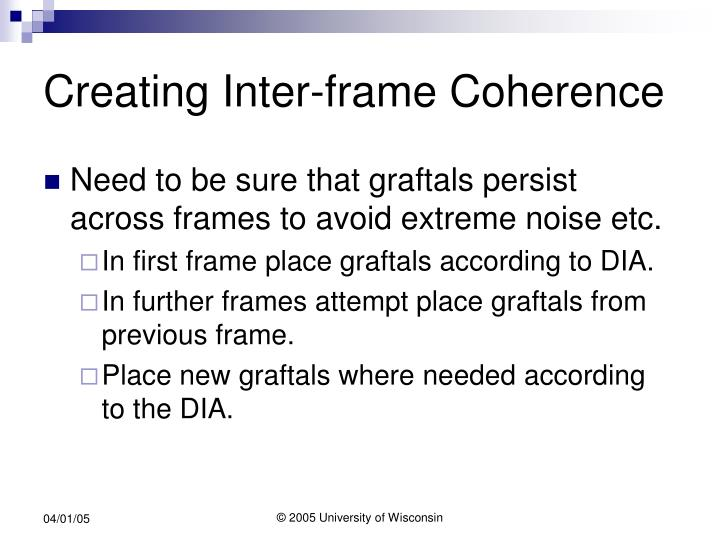 Creating Inter-frame Coherence