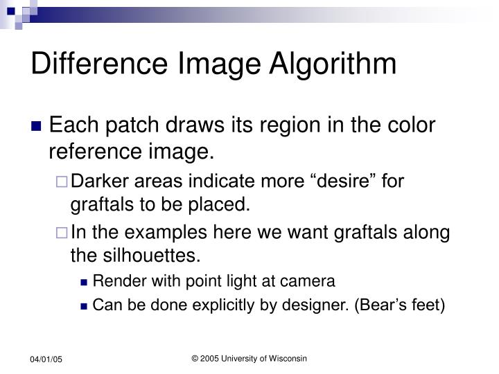 Difference Image Algorithm