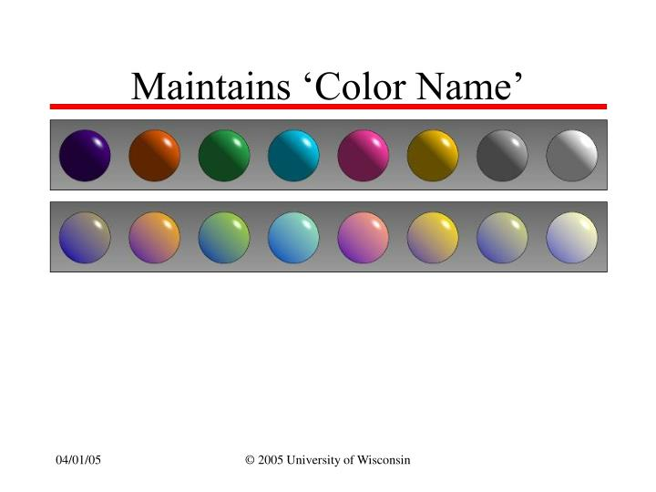 Maintains 'Color Name'