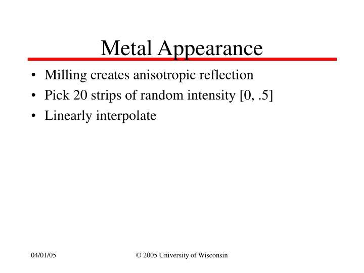 Metal Appearance
