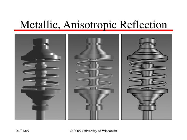 Metallic, Anisotropic Reflection
