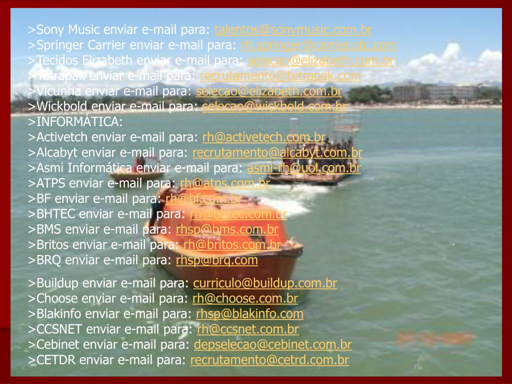 >Sony Music enviar e-mail para: