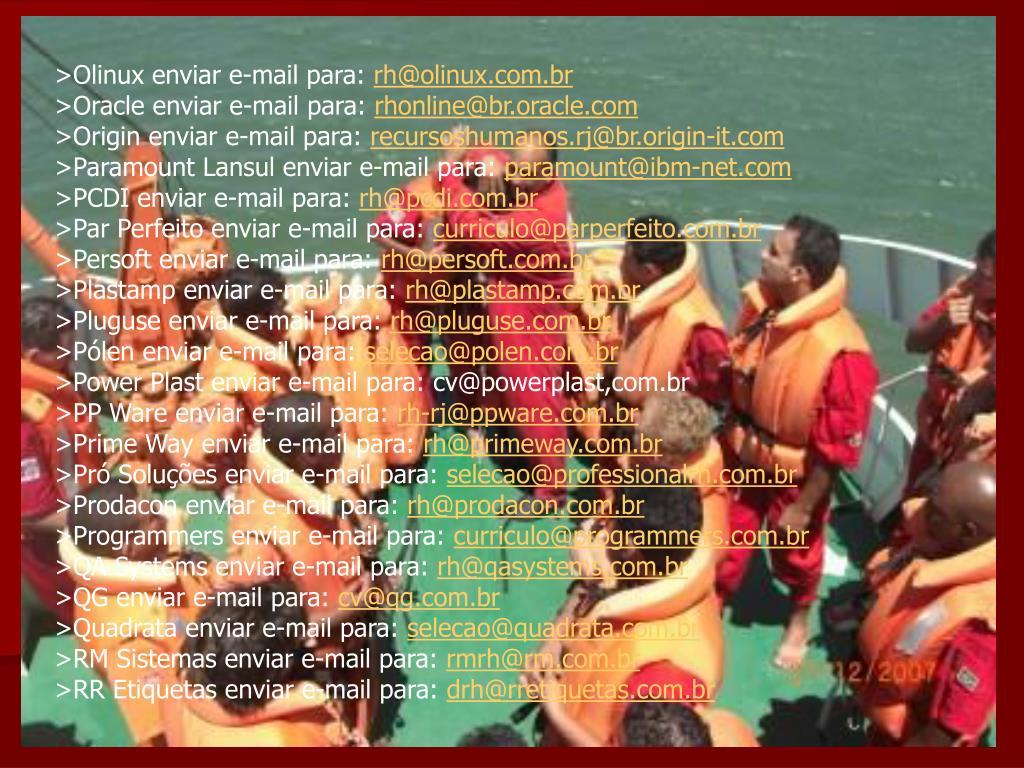 >Olinux enviar e-mail para: