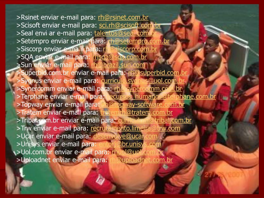 >Rsinet enviar e-mail para: