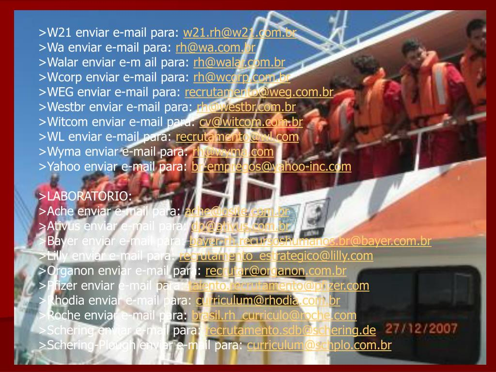 >W21 enviar e-mail para: