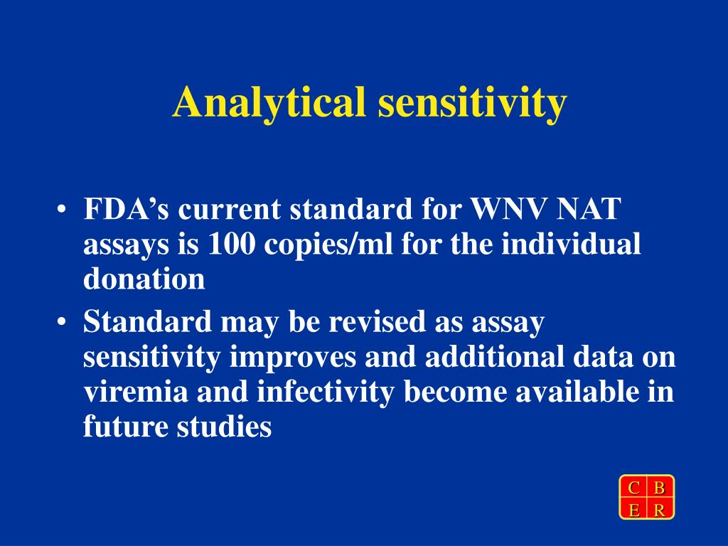 Analytical sensitivity