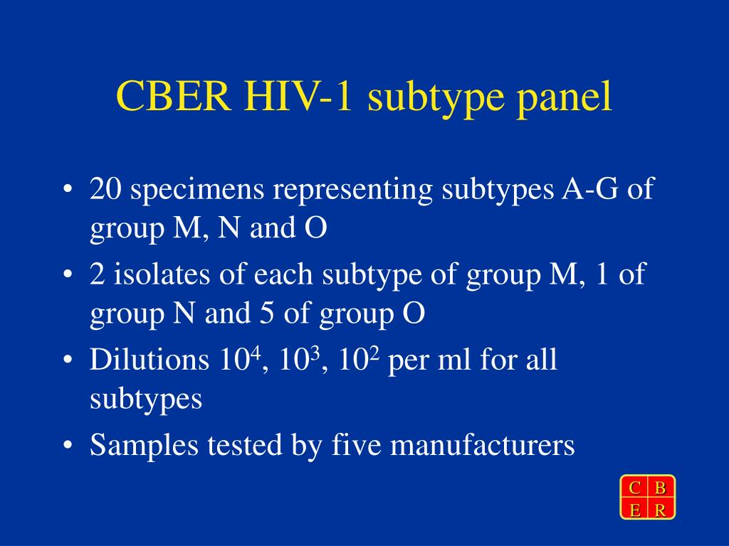 CBER HIV-1 subtype panel