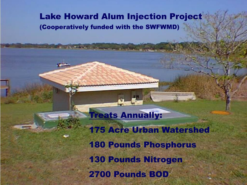 Lake Howard Alum Injection Project