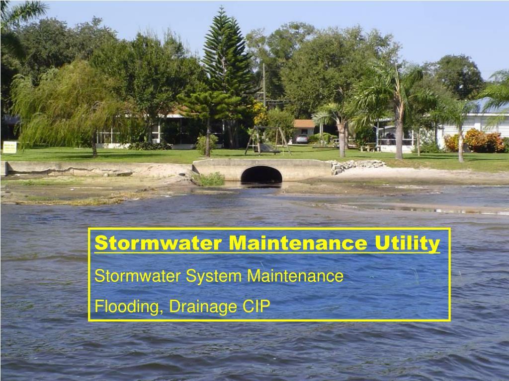 Stormwater Maintenance Utility