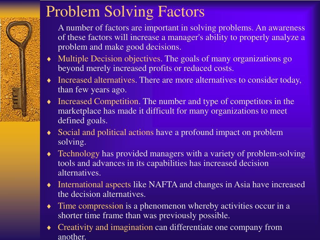 Problem Solving Factors