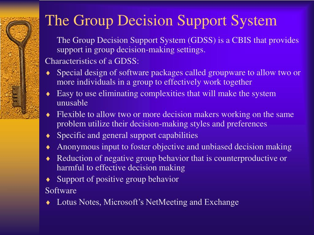 The Group Decision Support System