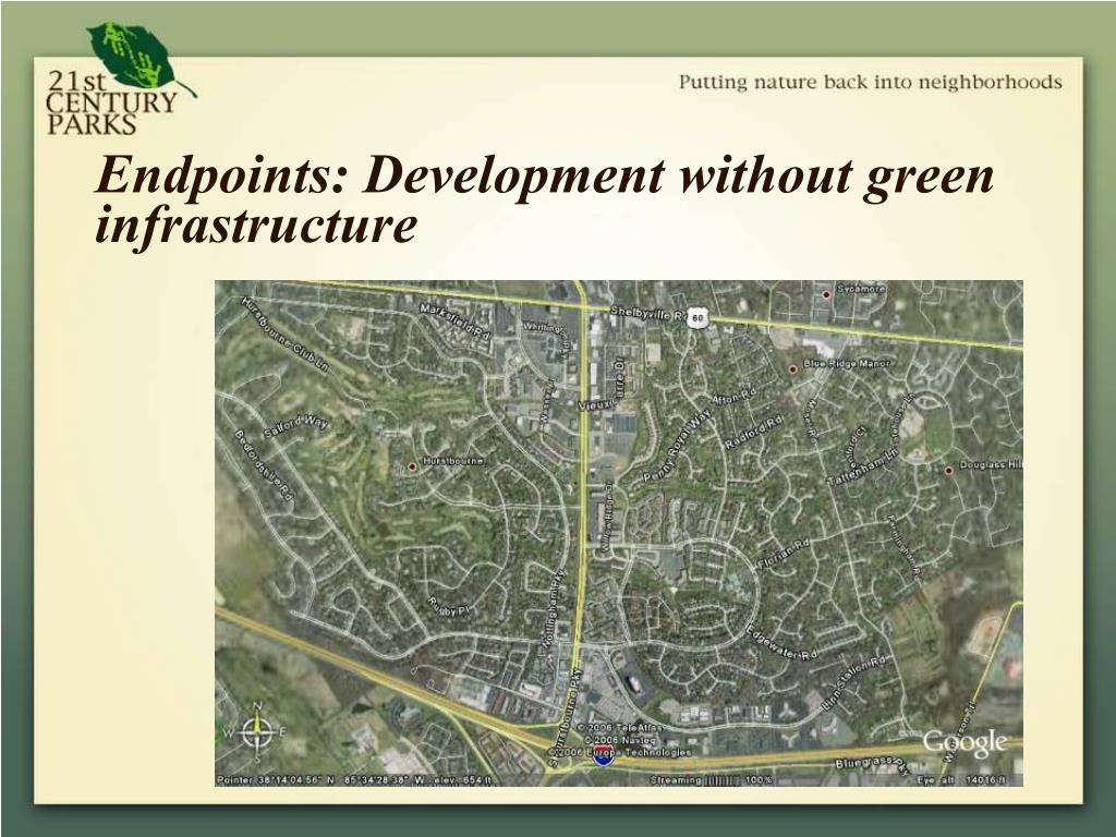 Endpoints: Development without green infrastructure