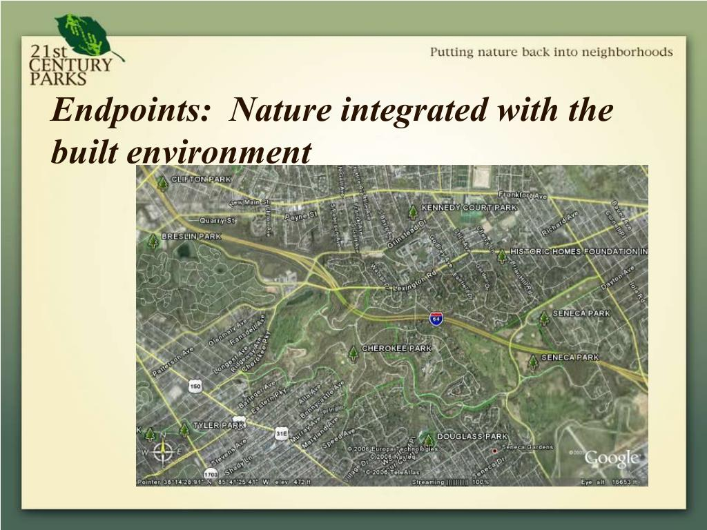 Endpoints:  Nature integrated with the built environment