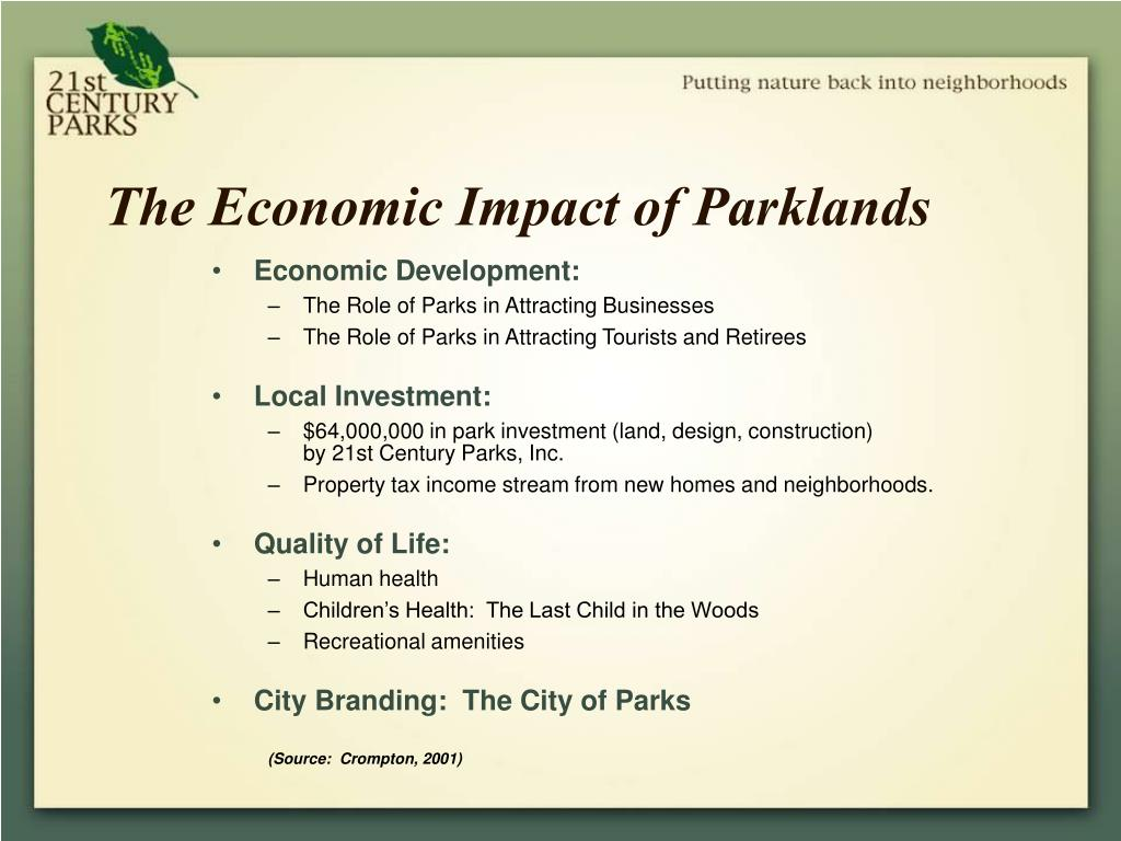 The Economic Impact of Parklands