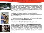 rural development through sustainable tourism