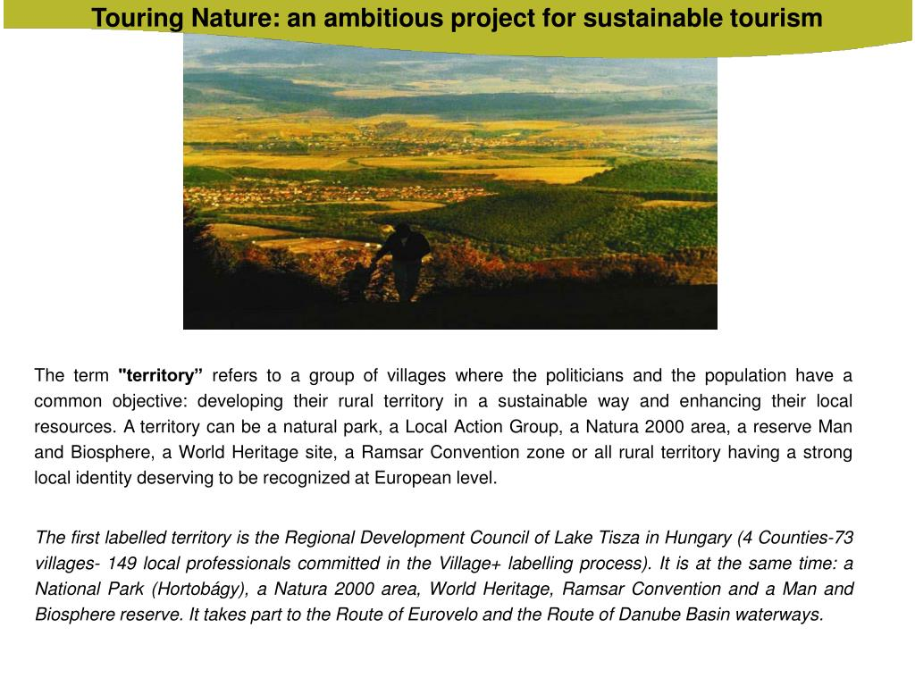 Touring Nature: an ambitious project for sustainable tourism