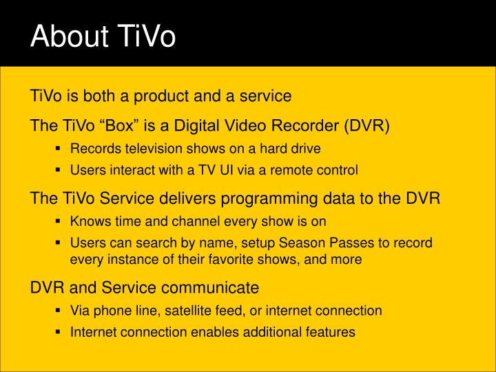 About tivo