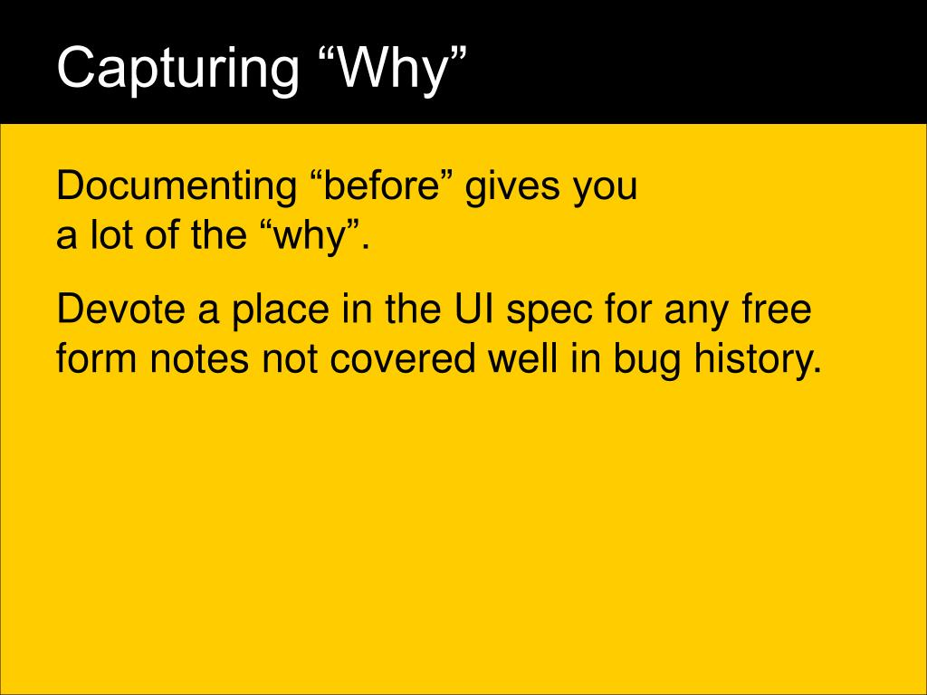 "Capturing ""Why"""