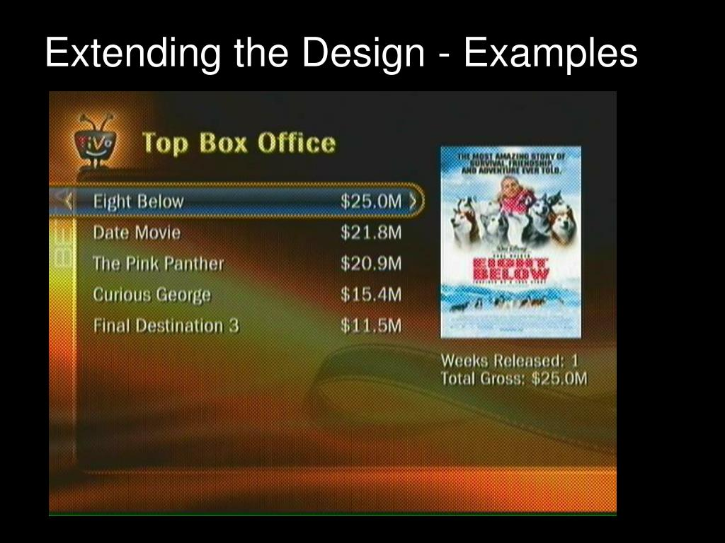 Extending the Design - Examples