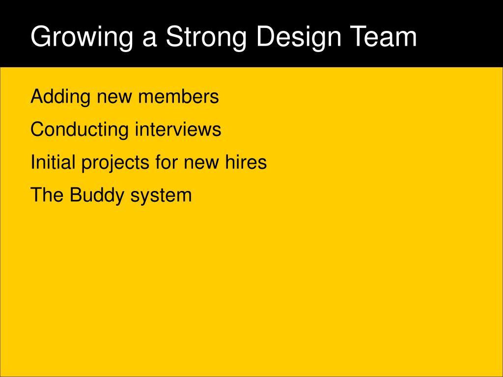 Growing a Strong Design Team
