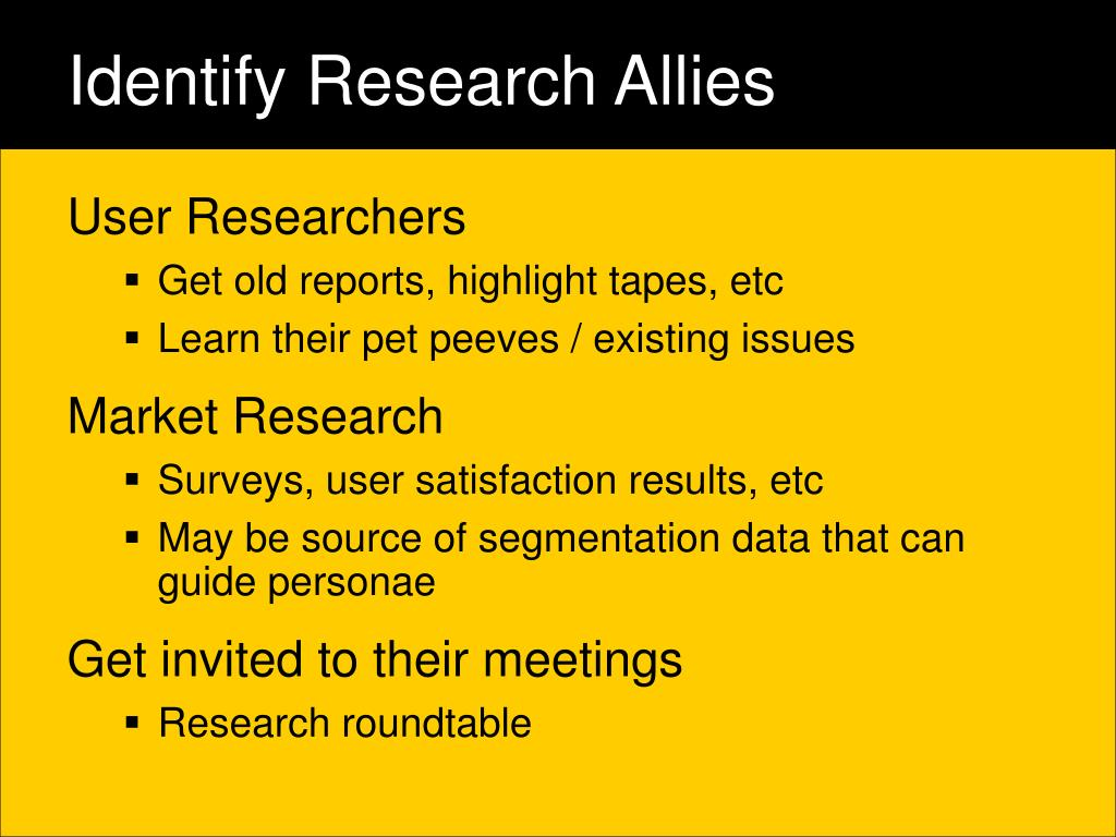 Identify Research Allies