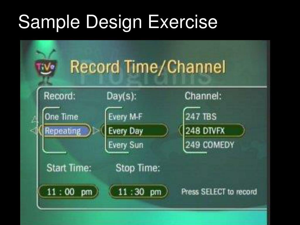 Sample Design Exercise