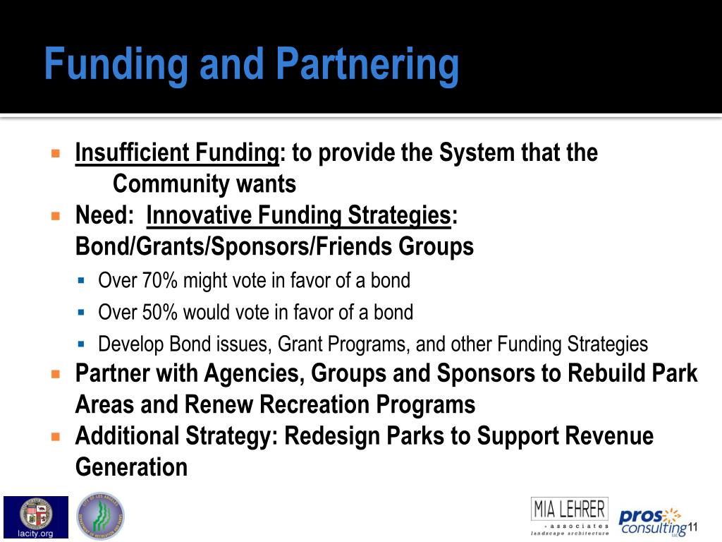 Funding and Partnering