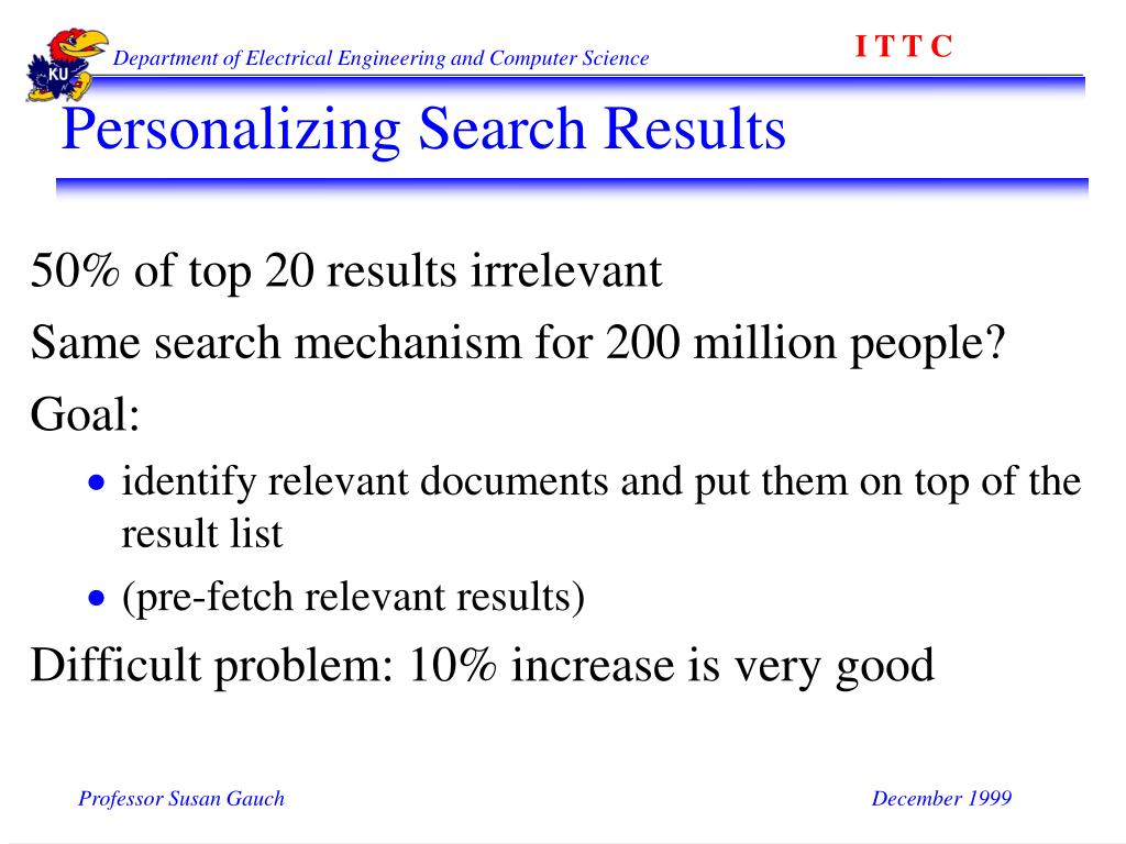 Personalizing Search Results