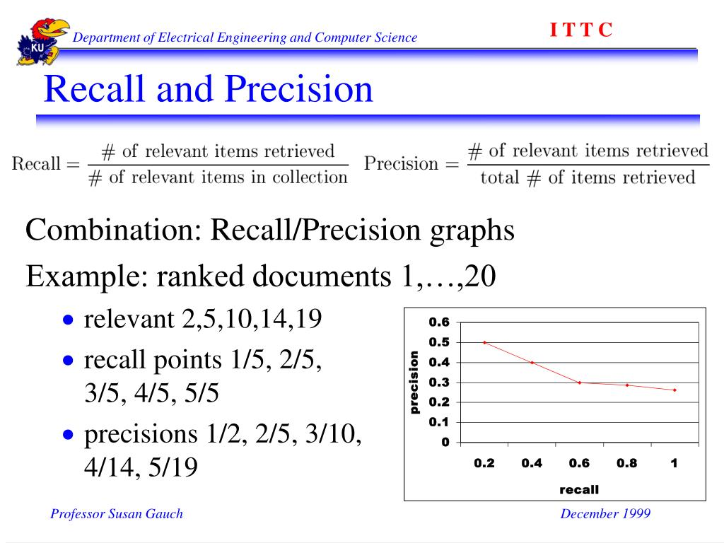 Recall and Precision