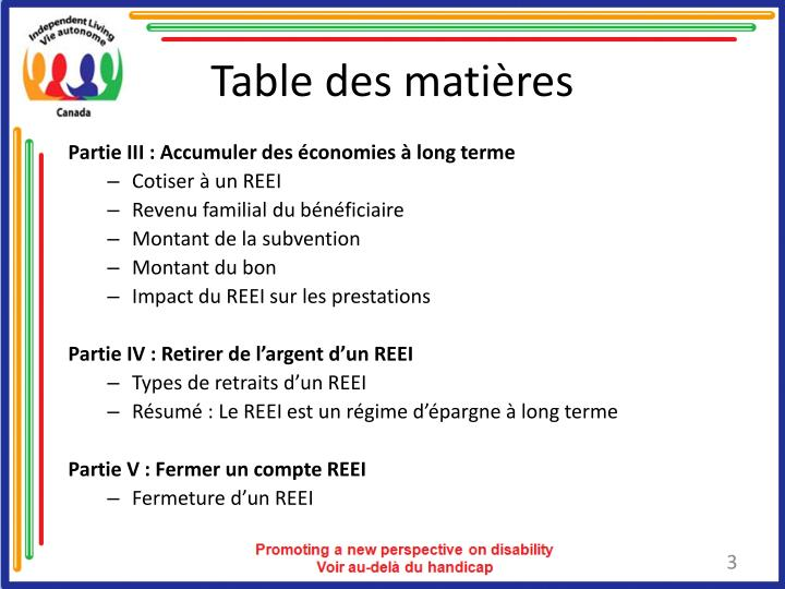 Table des mati res3