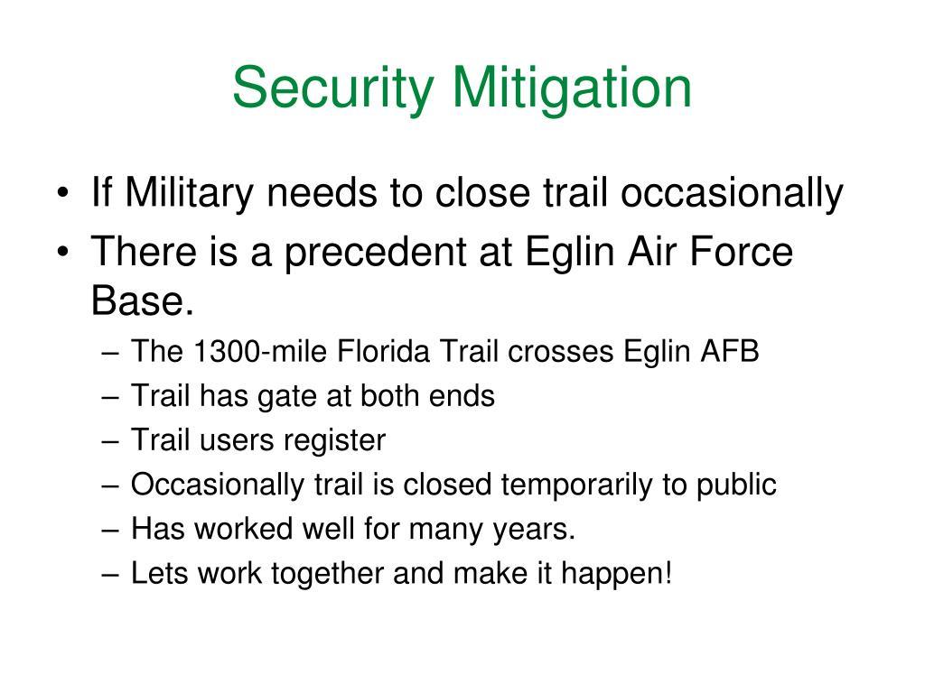 Security Mitigation