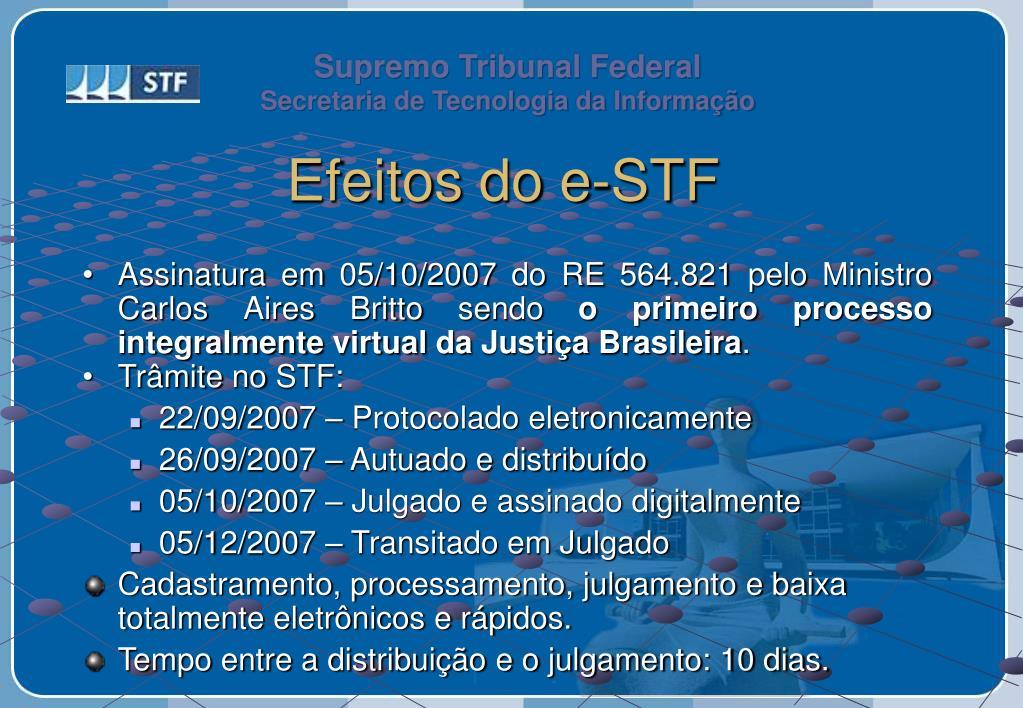 Efeitos do e-STF
