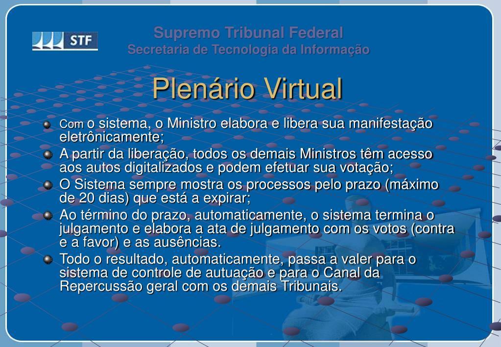 Plenário Virtual