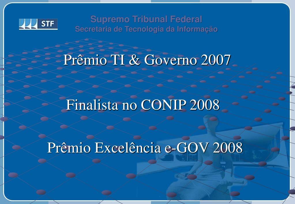 Prêmio TI & Governo 2007