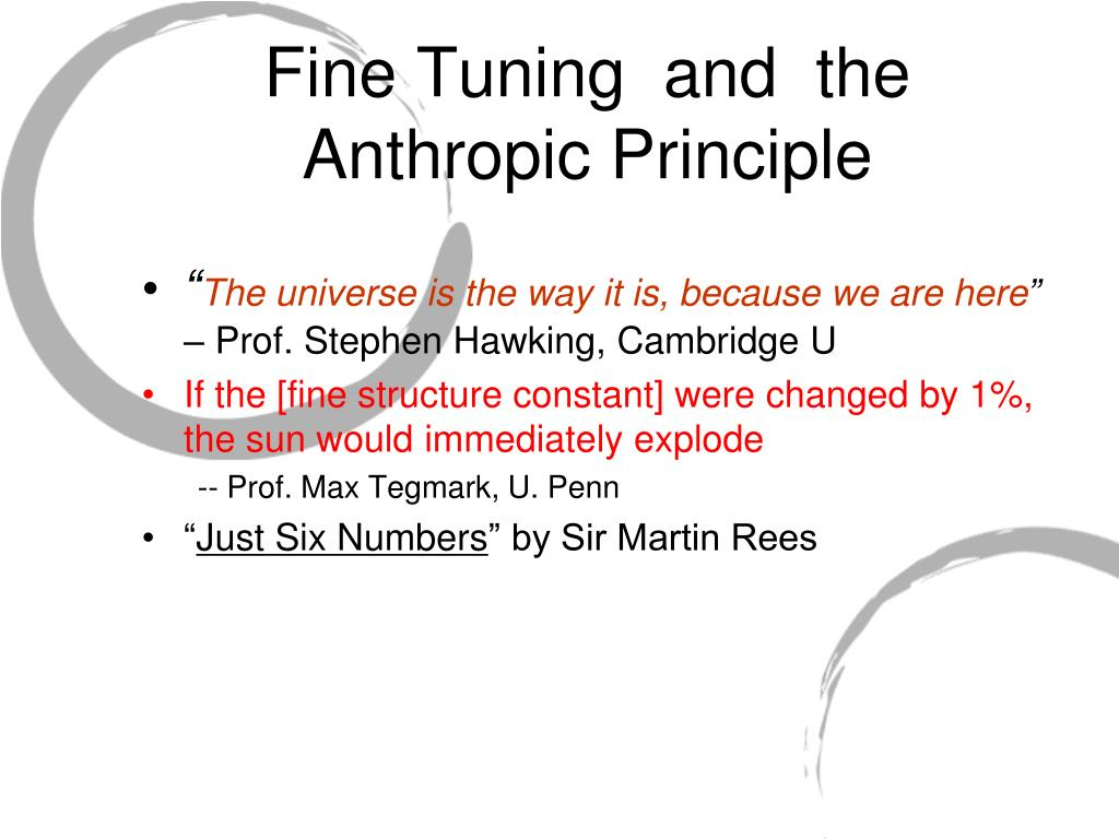 Fine Tuning  and  the Anthropic Principle
