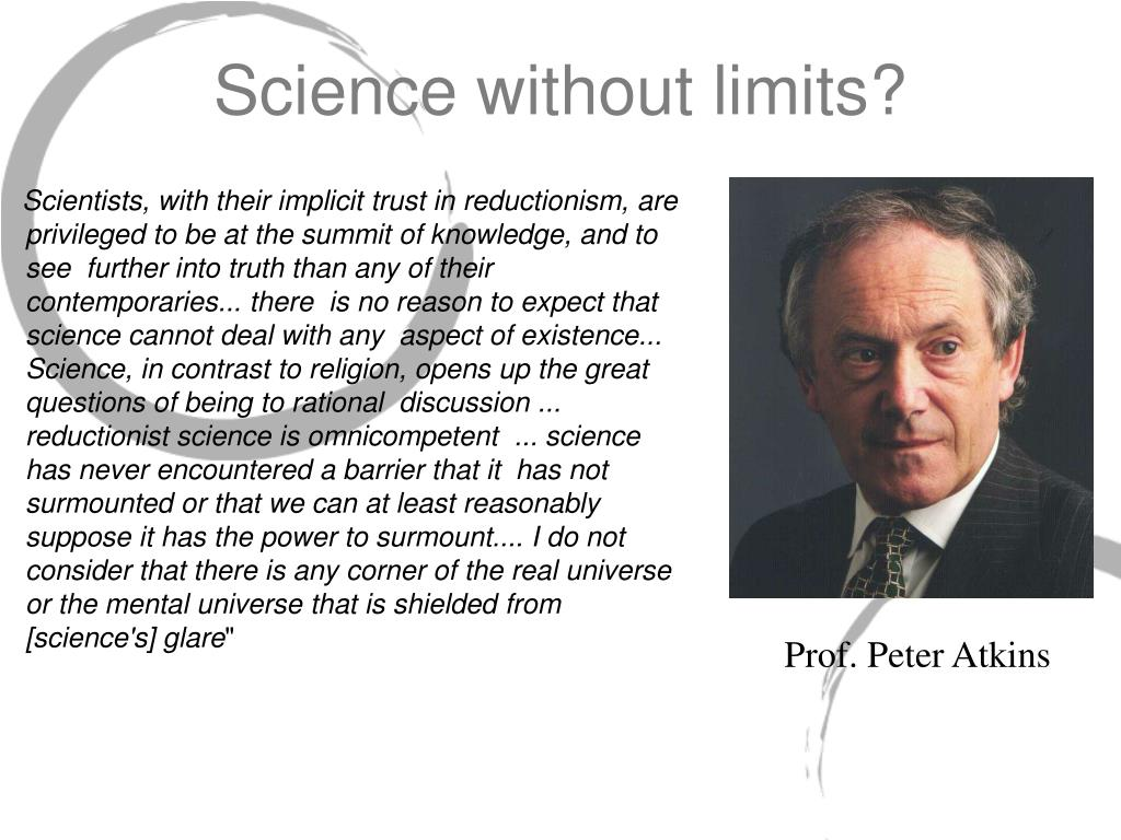 Science without limits?