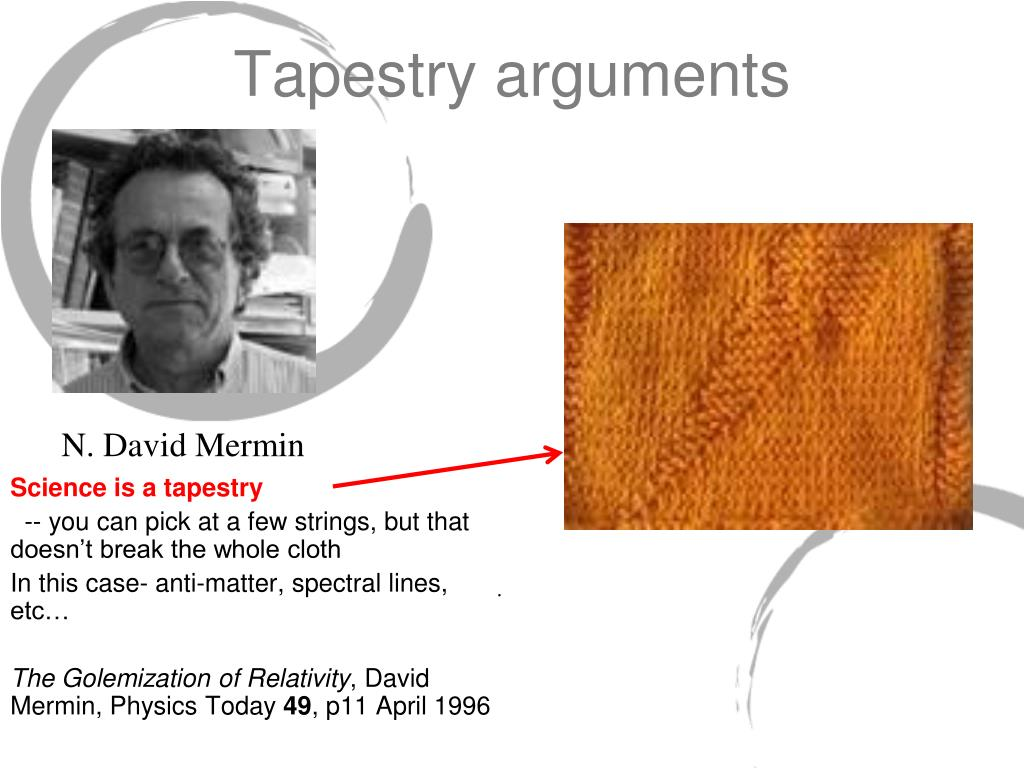 Tapestry arguments