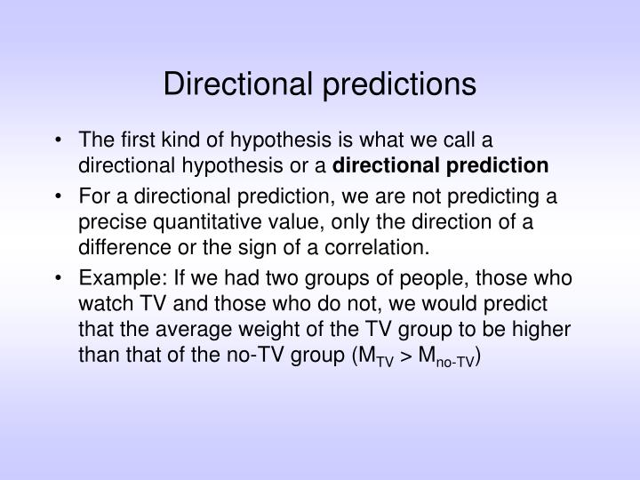Directional predictions