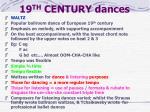 19 th century dances