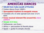 americas dances