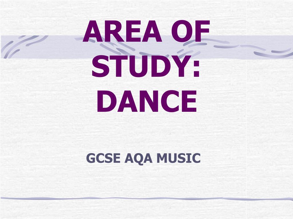 area of study dance