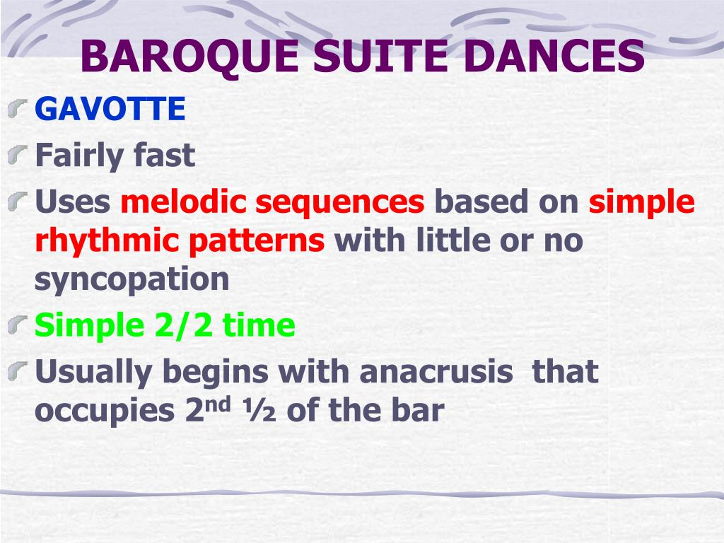 BAROQUE SUITE DANCES