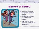 element of tempo