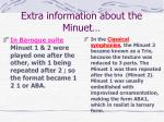 extra information about the minuet