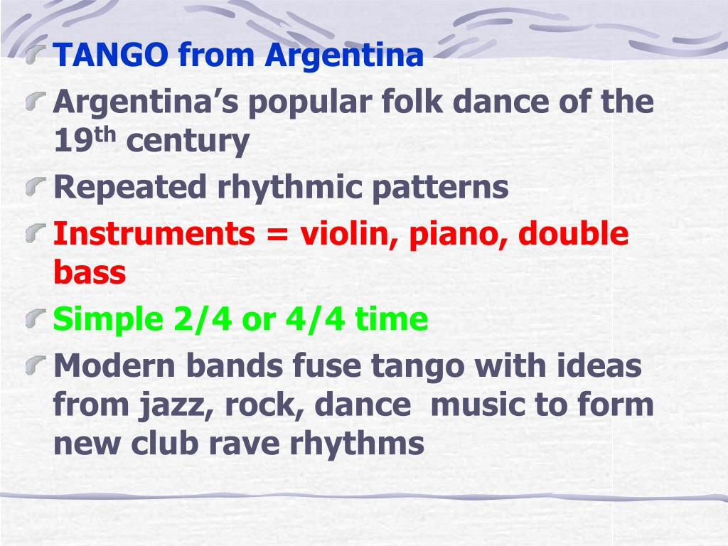 TANGO from Argentina